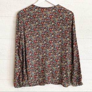 Anthropologie Tops - Anthropologie Meadow Rue Floral Popover Blouse M